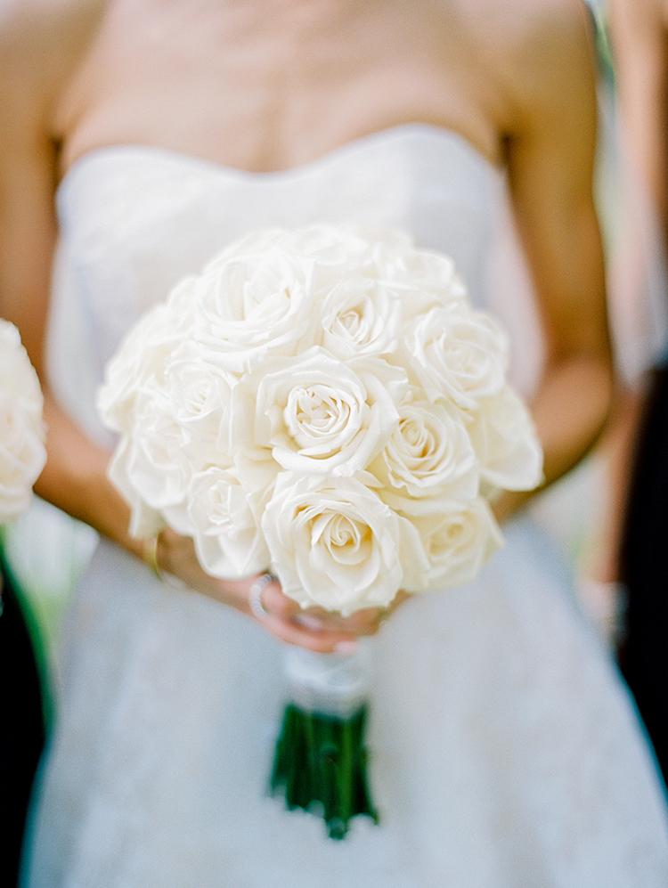 white rose wedding bouquets - photo by Love by Serena https://ruffledblog.com/elegant-annapolis-wedding-with-romantic-greenery