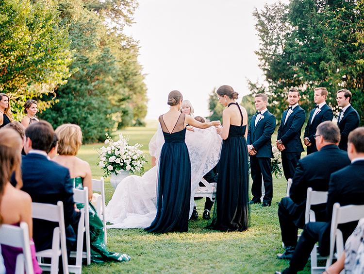 wedding ceremony traditions - photo by Love by Serena https://ruffledblog.com/elegant-annapolis-wedding-with-romantic-greenery