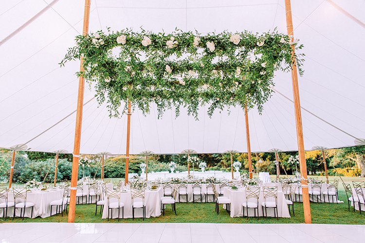 romantic tented wedding ideas - photo by Love by Serena http://ruffledblog.com/elegant-annapolis-wedding-with-romantic-greenery