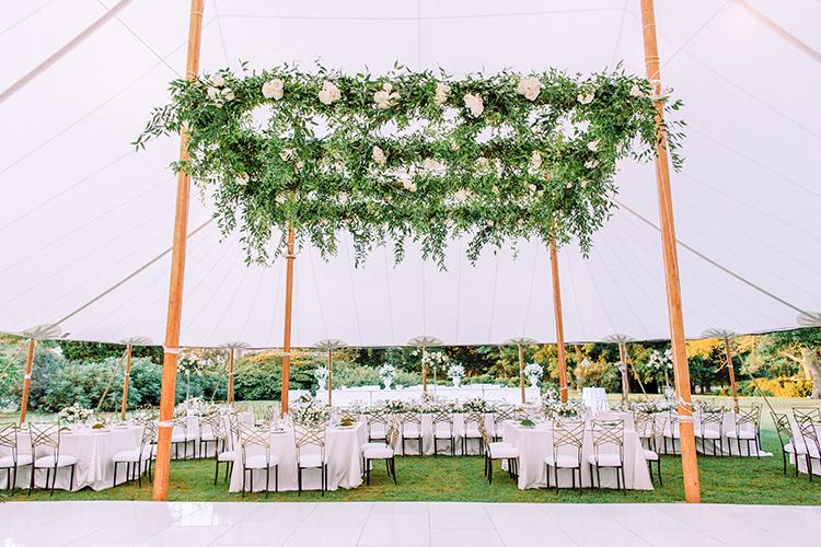 romantic tented wedding ideas - photo by Love by Serena https://ruffledblog.com/elegant-annapolis-wedding-with-romantic-greenery