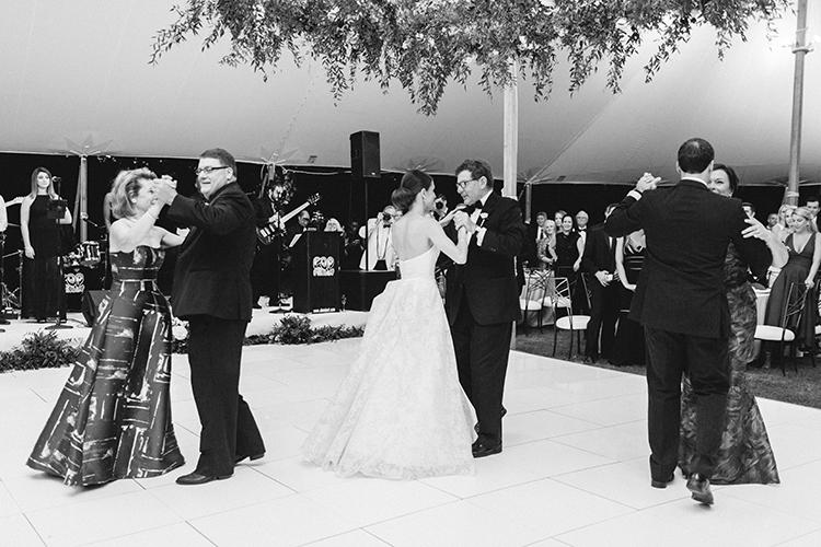 first dances - photo by Love by Serena https://ruffledblog.com/elegant-annapolis-wedding-with-romantic-greenery
