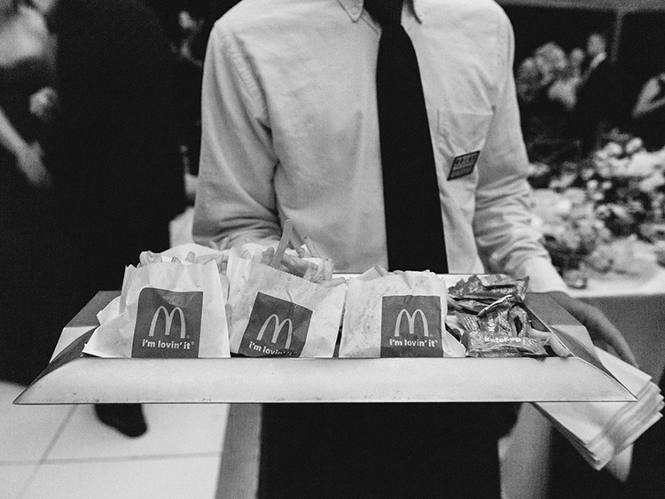 McDonalds at weddings - photo by Love by Serena http://ruffledblog.com/elegant-annapolis-wedding-with-romantic-greenery