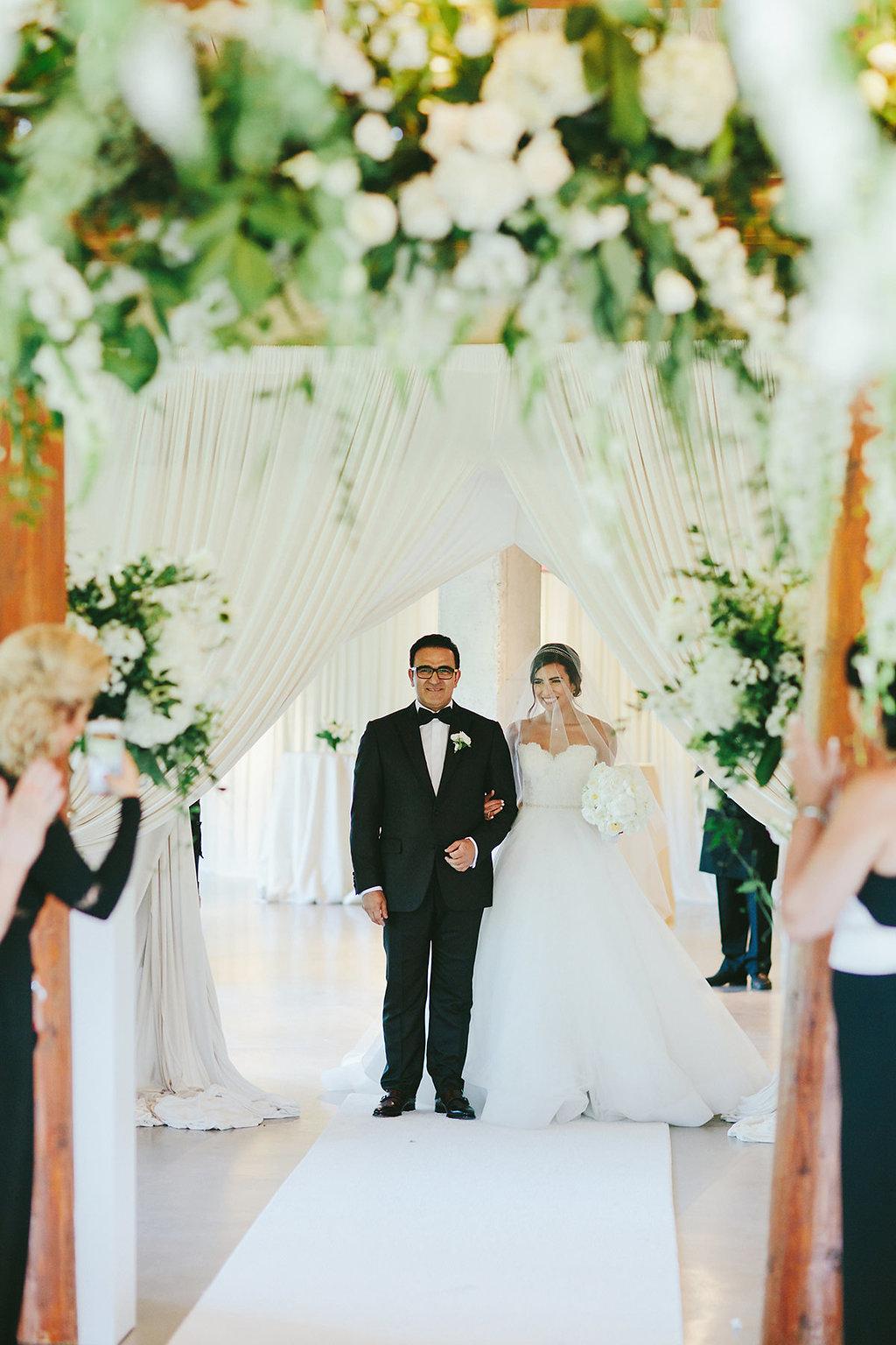 bridal processionals - photo by Melia Lucida https://ruffledblog.com/elegant-canadian-wedding-with-greenery