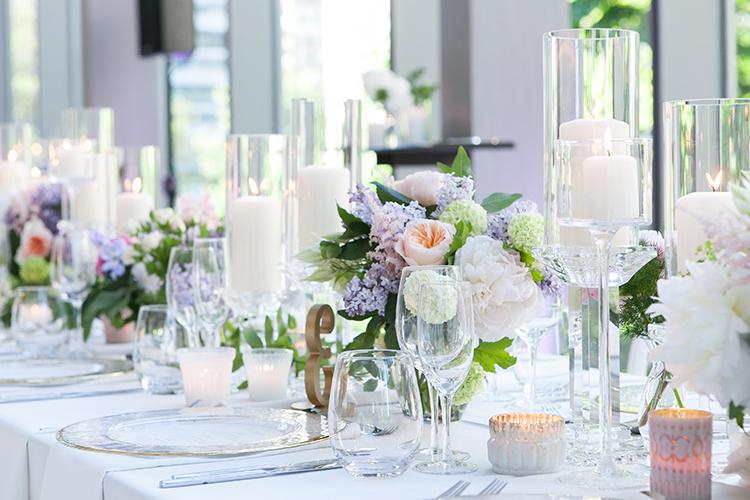 reception tables - photo by 5ive 5ifteen https://ruffledblog.com/elegant-garden-inspired-toronto-wedding
