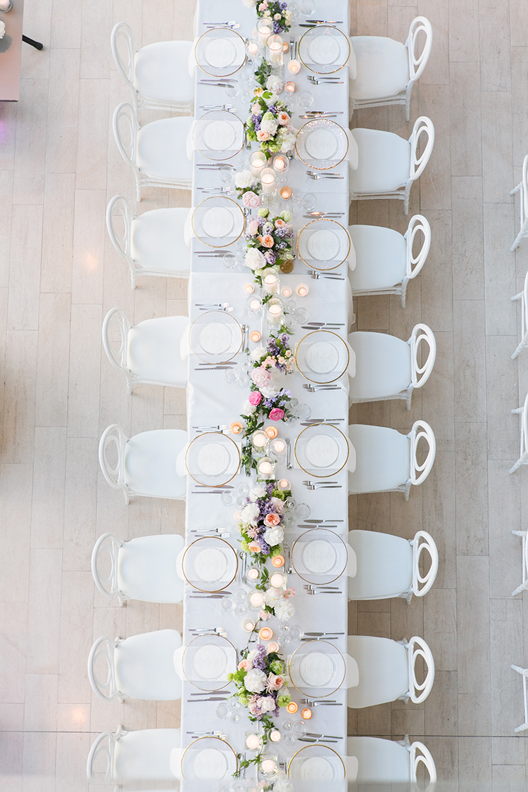 modern wedding tablescapes - photo by 5ive 5ifteen http://ruffledblog.com/elegant-garden-inspired-toronto-wedding