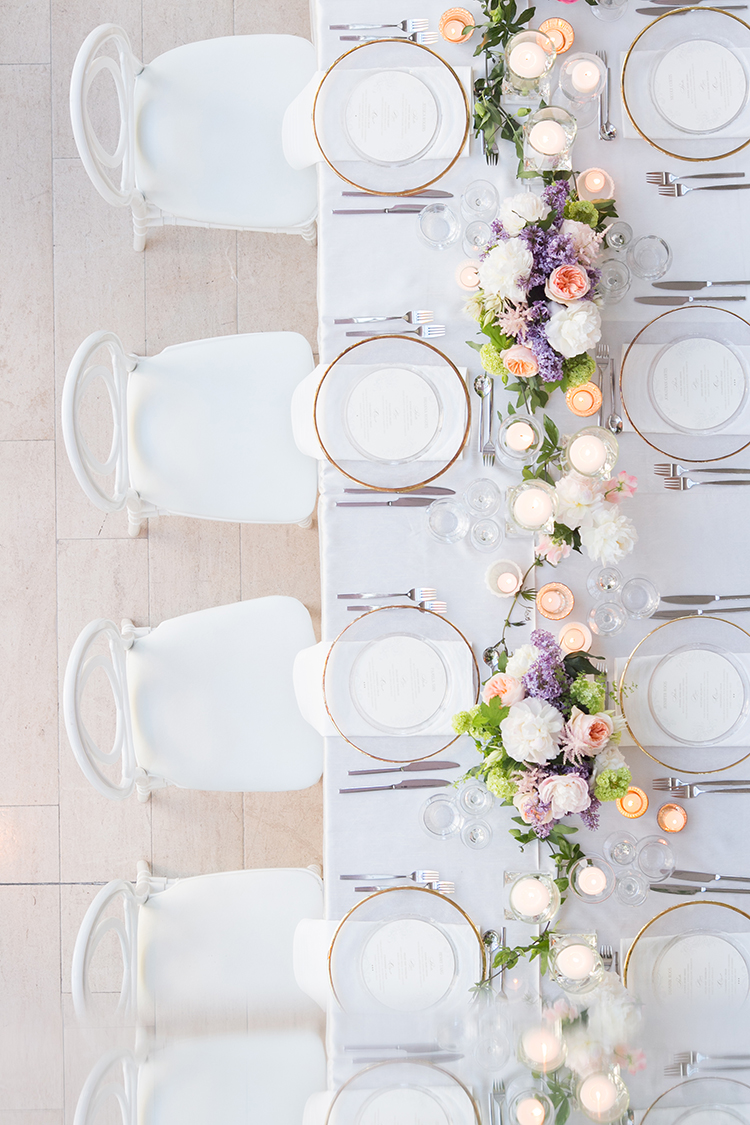 modern tablescapes - photo by 5ive 5ifteen http://ruffledblog.com/elegant-garden-inspired-toronto-wedding