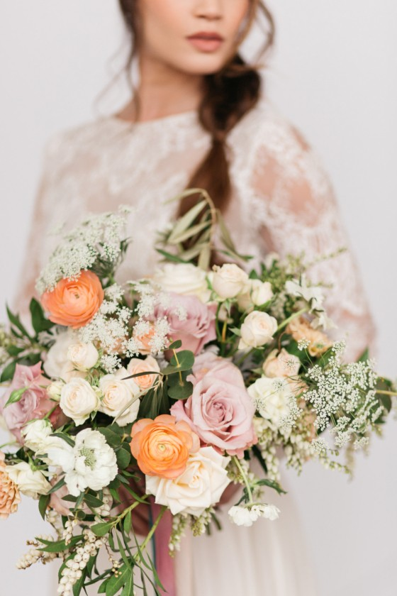 Elegant Loft Transformation with Mixed Metals + Modern Bridal Style