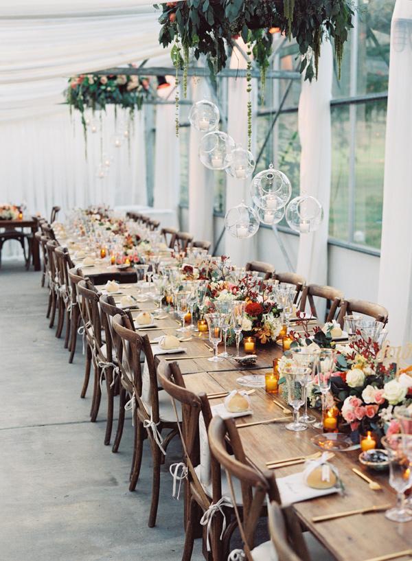 elegant fall reception - photo by Austin Gros https://ruffledblog.com/elegant-nashville-fall-wedding