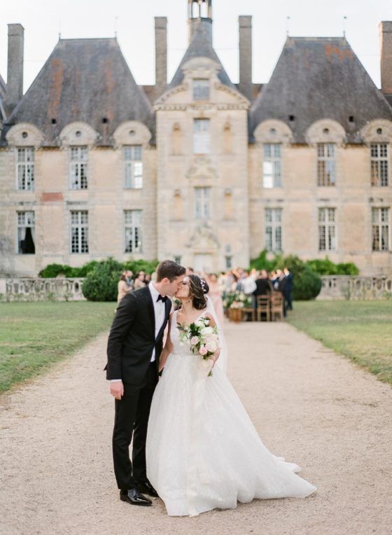 Elegant + Organic Destination Wedding at a French Chateau