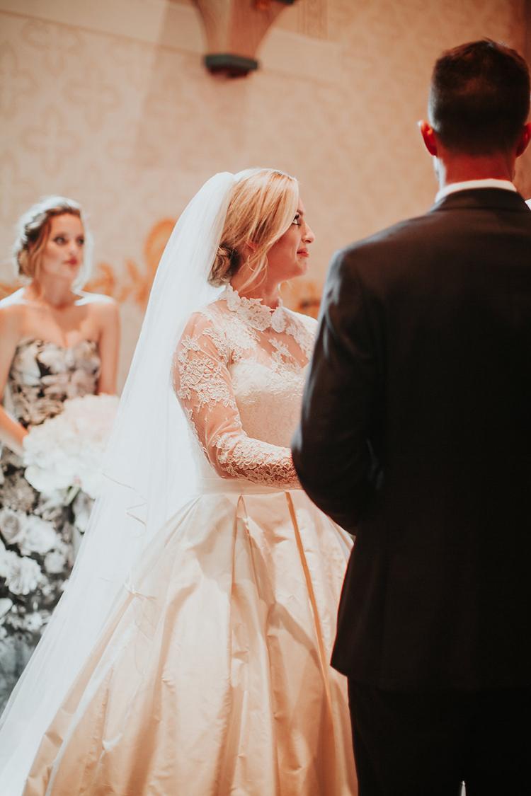 vintage inspired wedding dresses - photo by Alexandra Wallace https://ruffledblog.com/elegant-san-luis-obispo-garden-party-wedding
