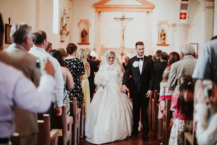 wedding recessionals - photo by Alexandra Wallace https://ruffledblog.com/elegant-san-luis-obispo-garden-party-wedding