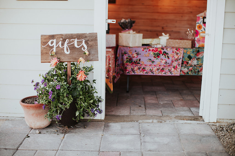 wedding gifts - photo by Alexandra Wallace https://ruffledblog.com/elegant-san-luis-obispo-garden-party-wedding