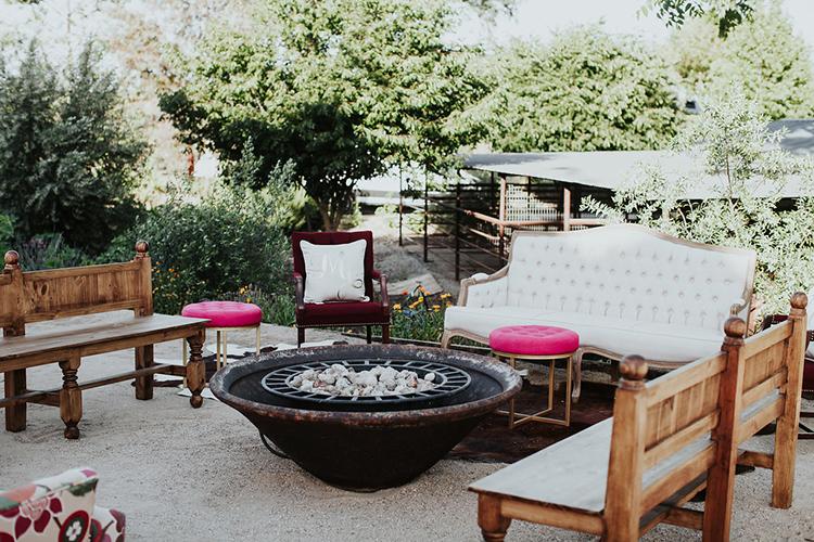 wedding lounges - photo by Alexandra Wallace https://ruffledblog.com/elegant-san-luis-obispo-garden-party-wedding