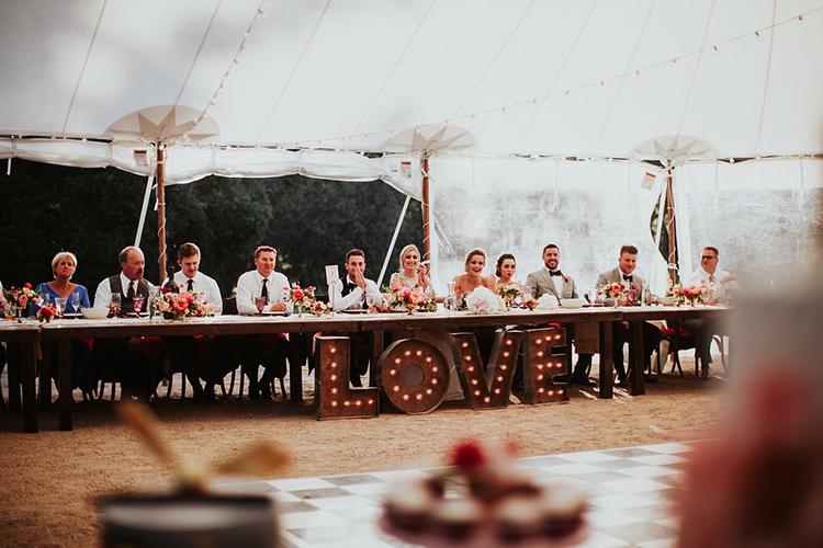wedding dance floor signs - photo by Alexandra Wallace https://ruffledblog.com/elegant-san-luis-obispo-garden-party-wedding