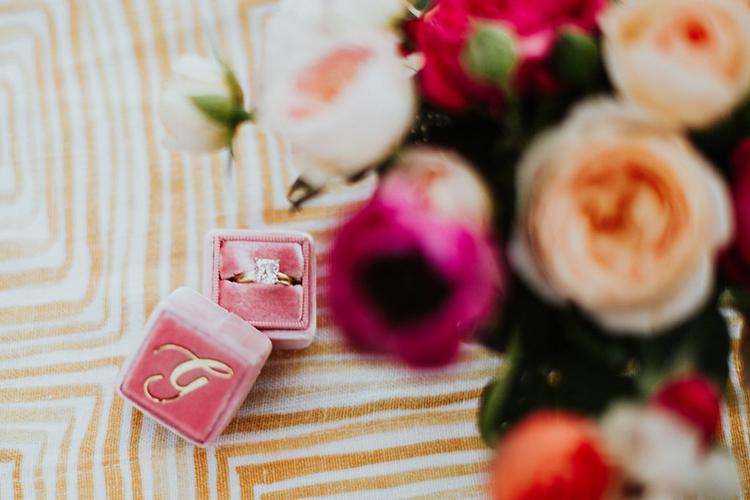 wedding rings - photo by Alexandra Wallace https://ruffledblog.com/elegant-san-luis-obispo-garden-party-wedding