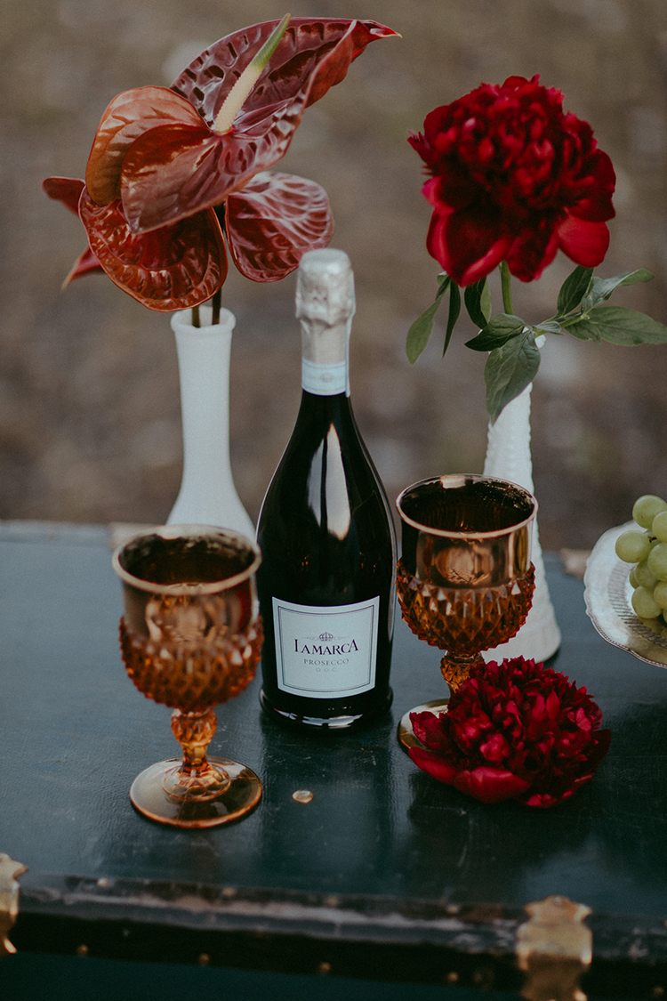 picnic inspired weddings - photo by Tricia Victoria Photography http://ruffledblog.com/elopement-inspiration-with-a-show-stopping-boho-lace-gown