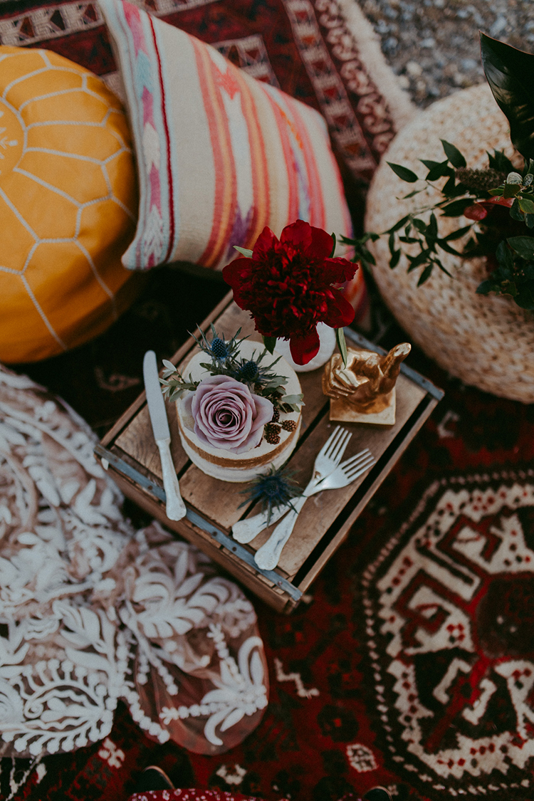 boho wedding inspiration - photo by Tricia Victoria Photography http://ruffledblog.com/elopement-inspiration-with-a-show-stopping-boho-lace-gown