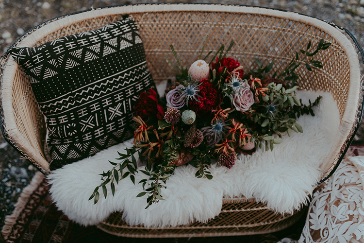 bohemian inspired wedding ideas - photo by Tricia Victoria Photography http://ruffledblog.com/elopement-inspiration-with-a-show-stopping-boho-lace-gown