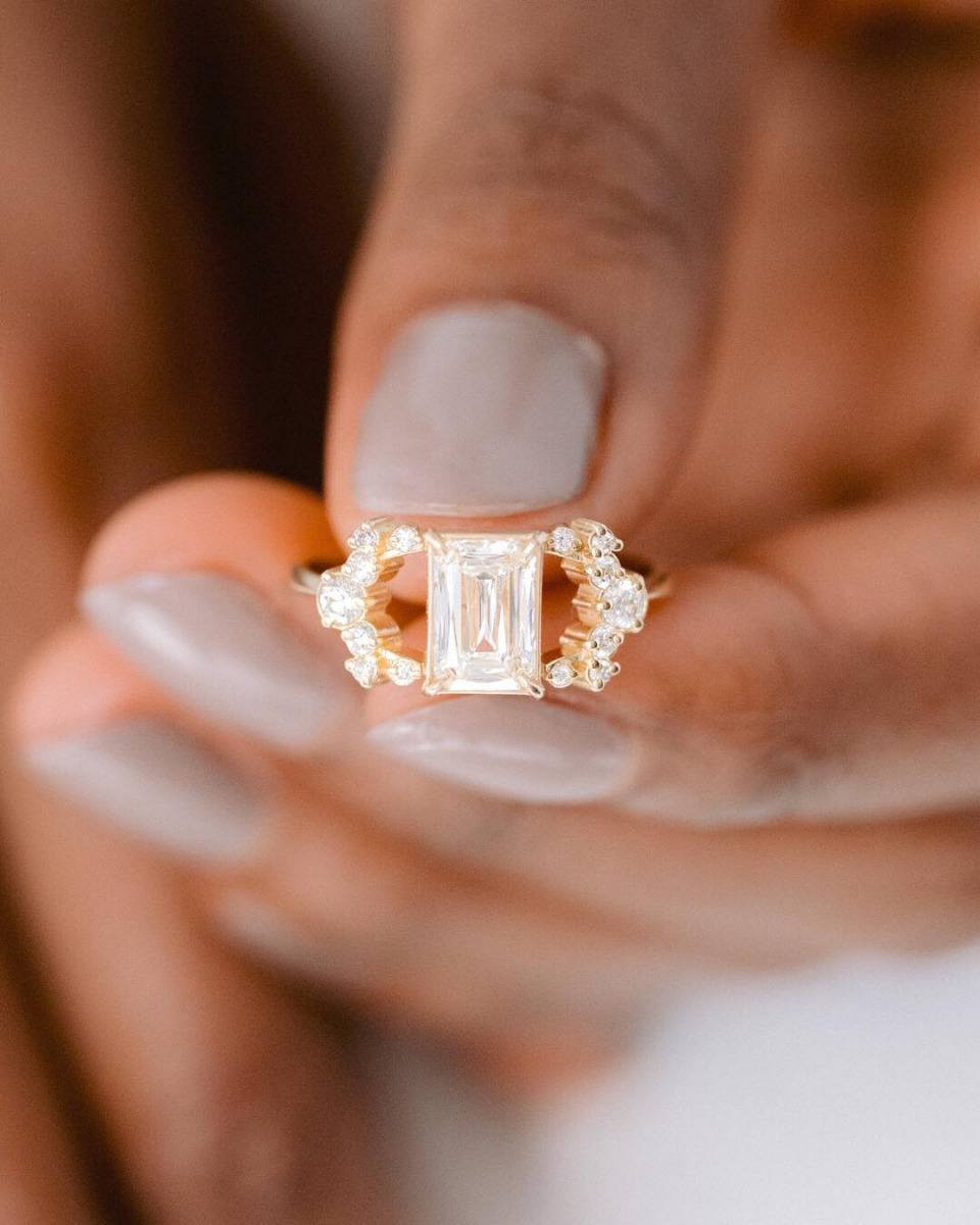 Emerald Cut Engagementrings 01
