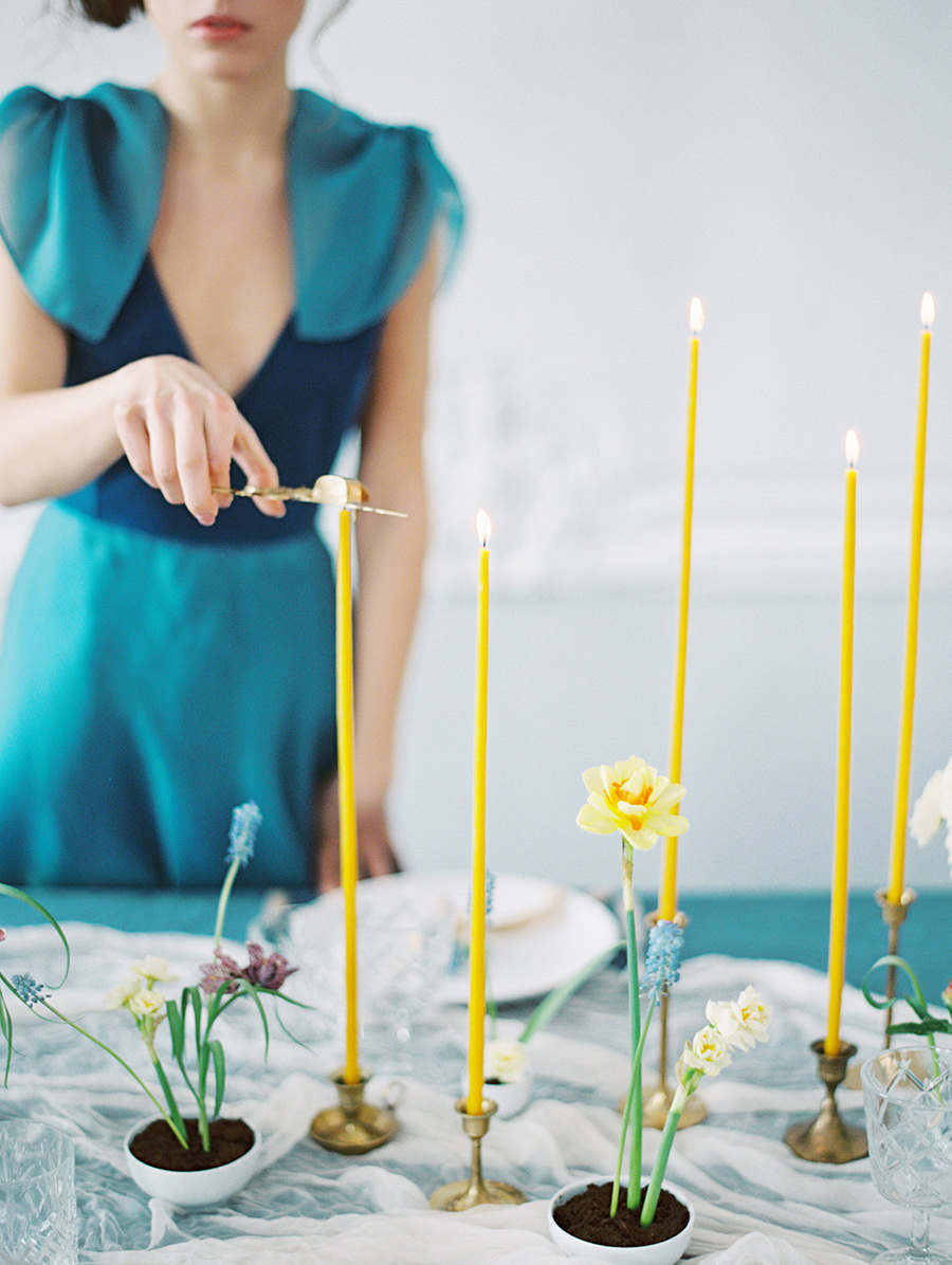 Ethereal Wedding Inspiration with Teal and Marigold - photo by Igor Kovchegin Photography http://ruffledblog.com/ethereal-wedding-inspiration-with-teal-and-marigold