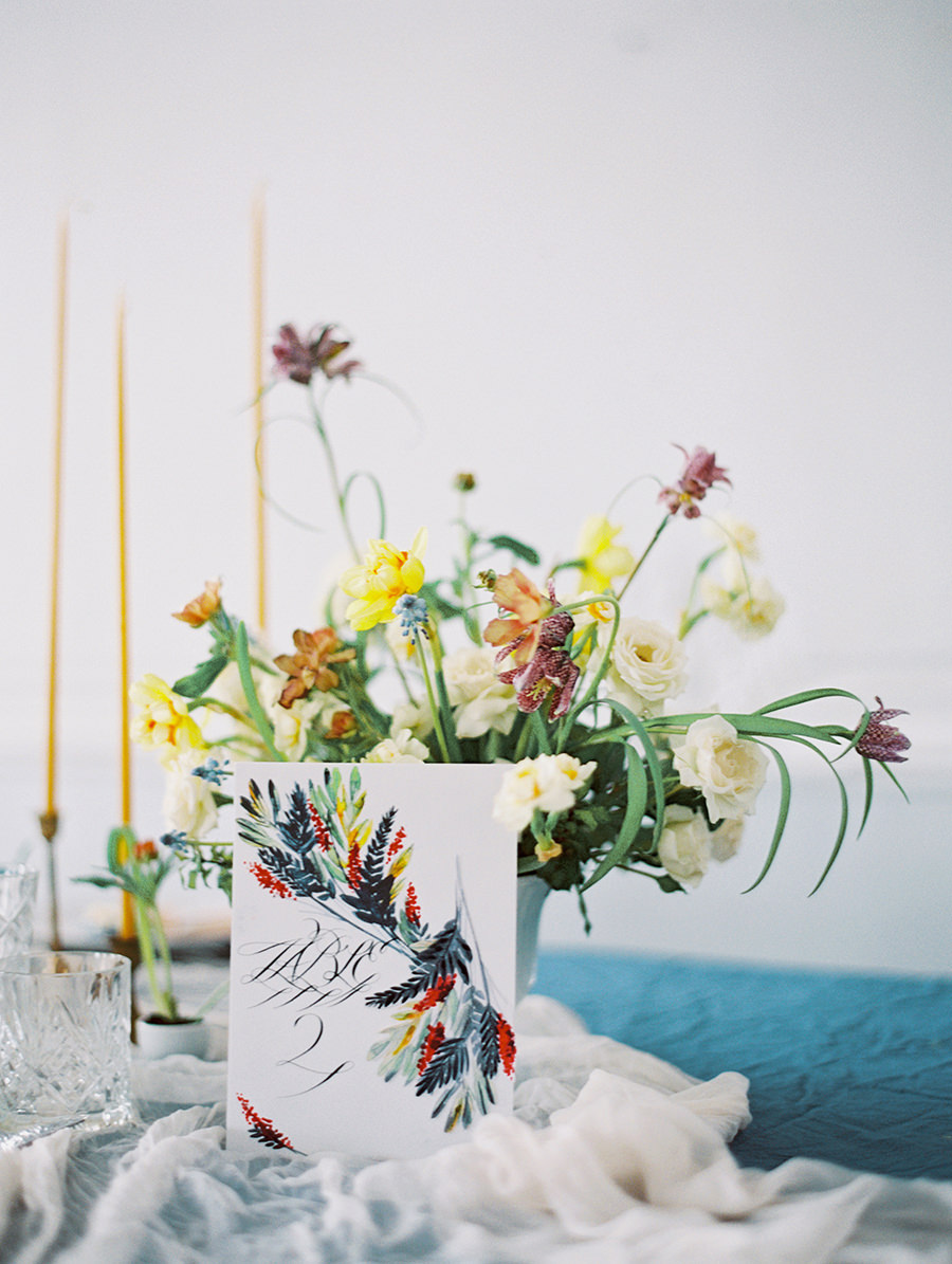 Russian wedding inspiration - photo by Igor Kovchegin Photography http://ruffledblog.com/ethereal-wedding-inspiration-with-teal-and-marigold