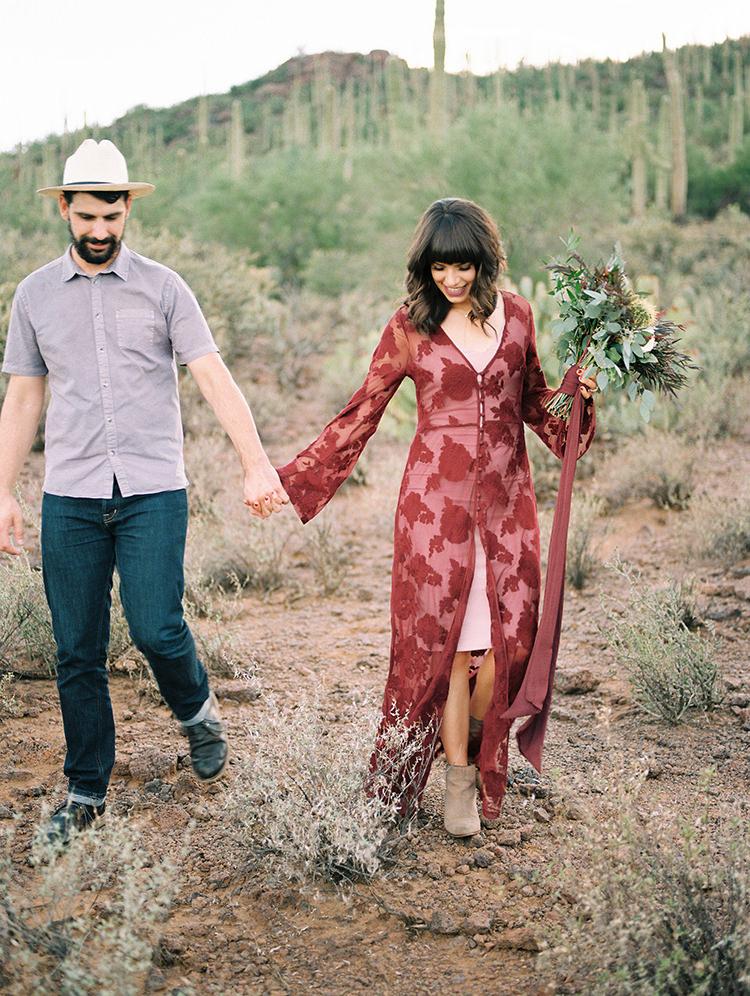 desert wedding elopement inspiration - https://ruffledblog.com/fall-desert-elopement-inspiration-with-burgundy-and-lavender