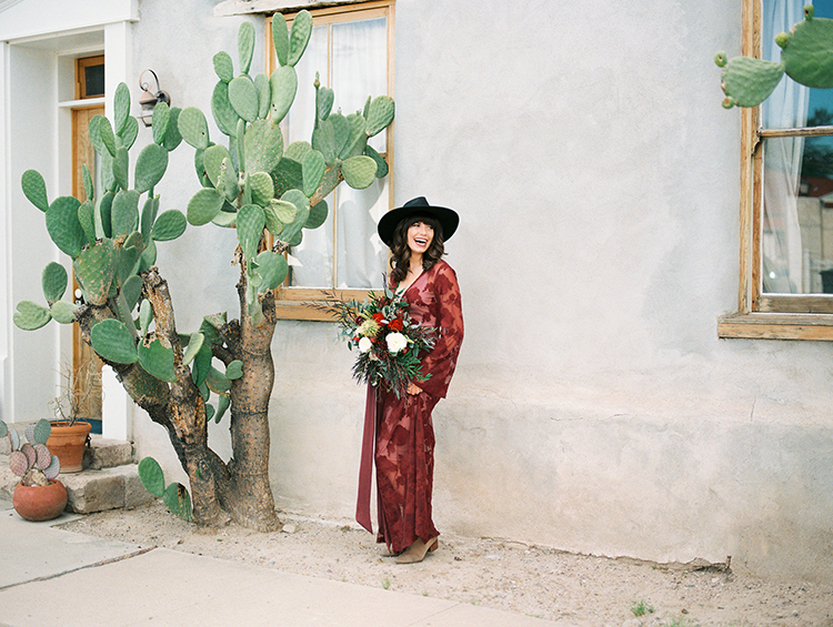 bridal portraits - https://ruffledblog.com/fall-desert-elopement-inspiration-with-burgundy-and-lavender