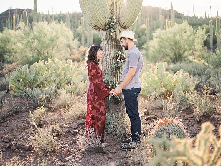 desert wedding elopements - https://ruffledblog.com/fall-desert-elopement-inspiration-with-burgundy-and-lavender