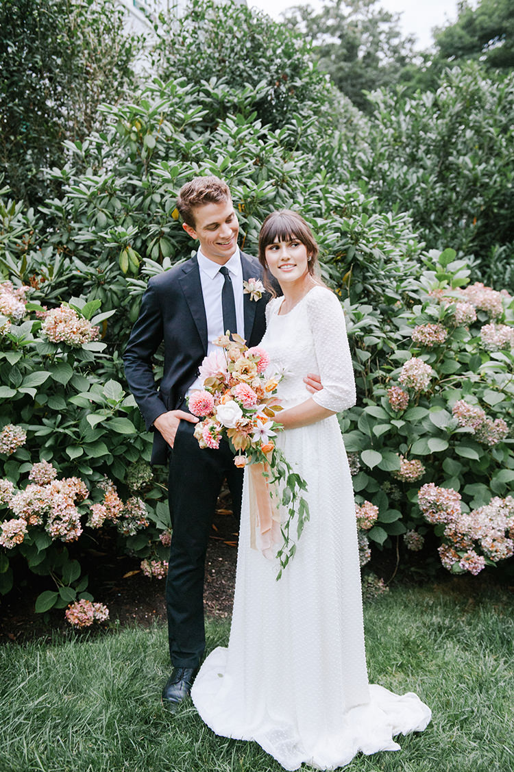 Fall Wedding Inspiration with Mauve and Apricot Hues - http://ruffledblog.com/fall-wedding-inspiration-with-mauve-and-apricot-hues