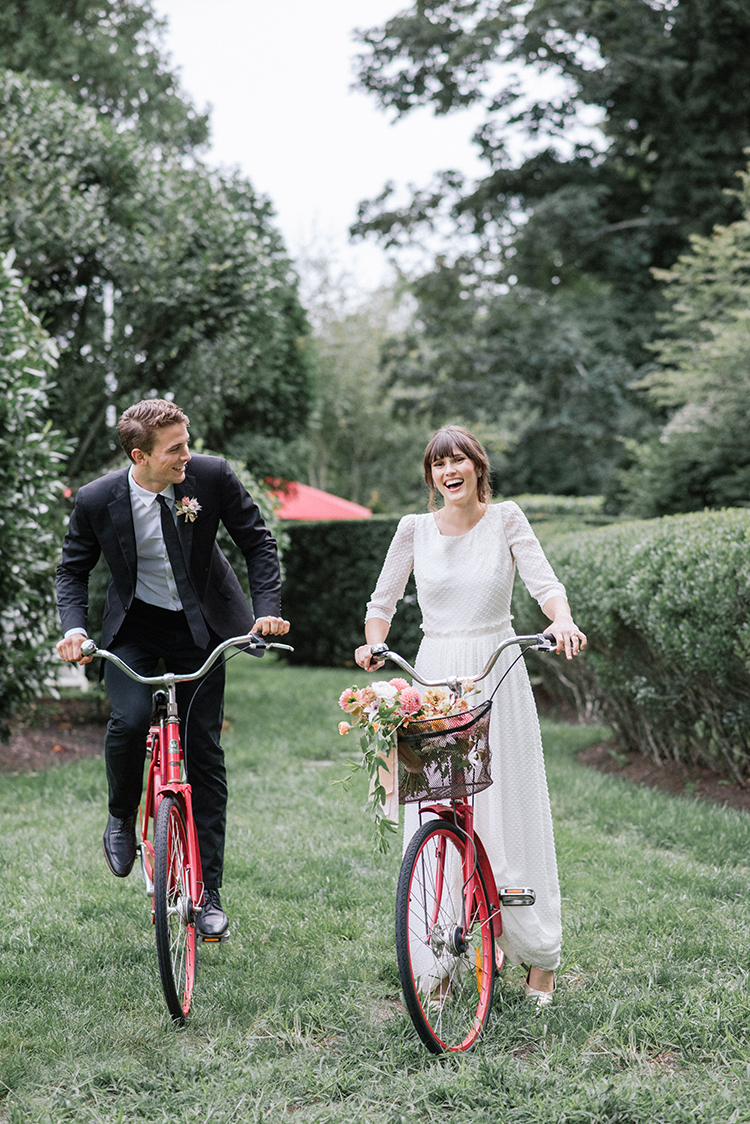 wedding inspiration on bikes - http://ruffledblog.com/fall-wedding-inspiration-with-mauve-and-apricot-hues