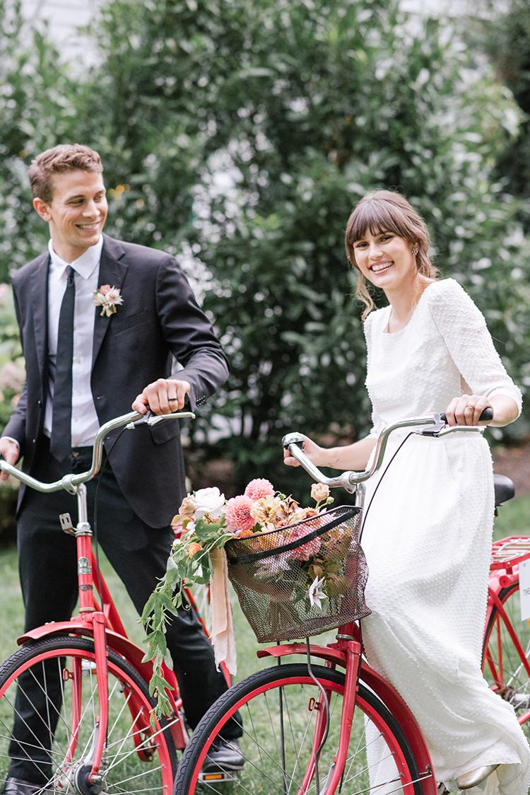 weddings on bikes - http://ruffledblog.com/fall-wedding-inspiration-with-mauve-and-apricot-hues