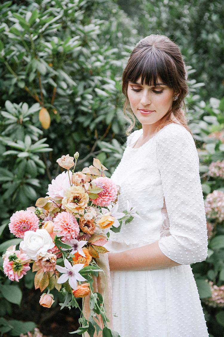 beautiful spring bridal looks - http://ruffledblog.com/fall-wedding-inspiration-with-mauve-and-apricot-hues