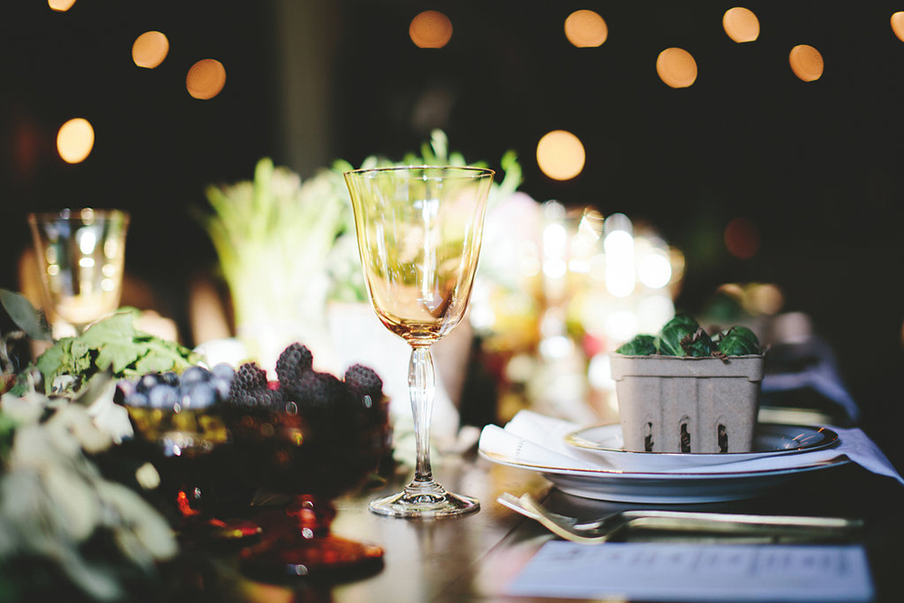 wedding tables - photo by Shots by Cheyenne http://ruffledblog.com/farm-to-table-wedding-inspiration-in-nashville