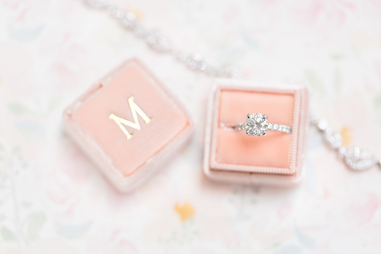 wedding ring boxes - photo by Amy and Jordan Photography https://ruffledblog.com/feminine-floral-wedding-in-the-arizona-desert