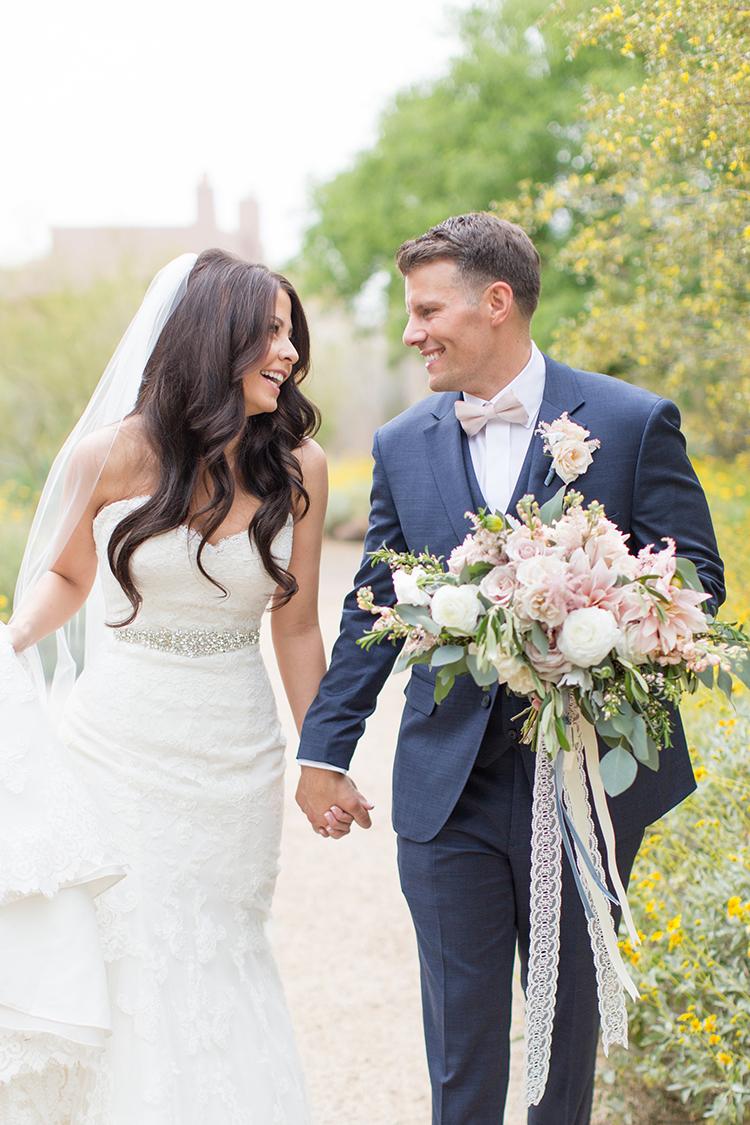 wedding portraits - photo by Amy and Jordan Photography http://ruffledblog.com/feminine-floral-wedding-in-the-arizona-desert