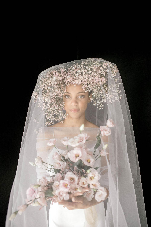 Floral Headpiece regal bride