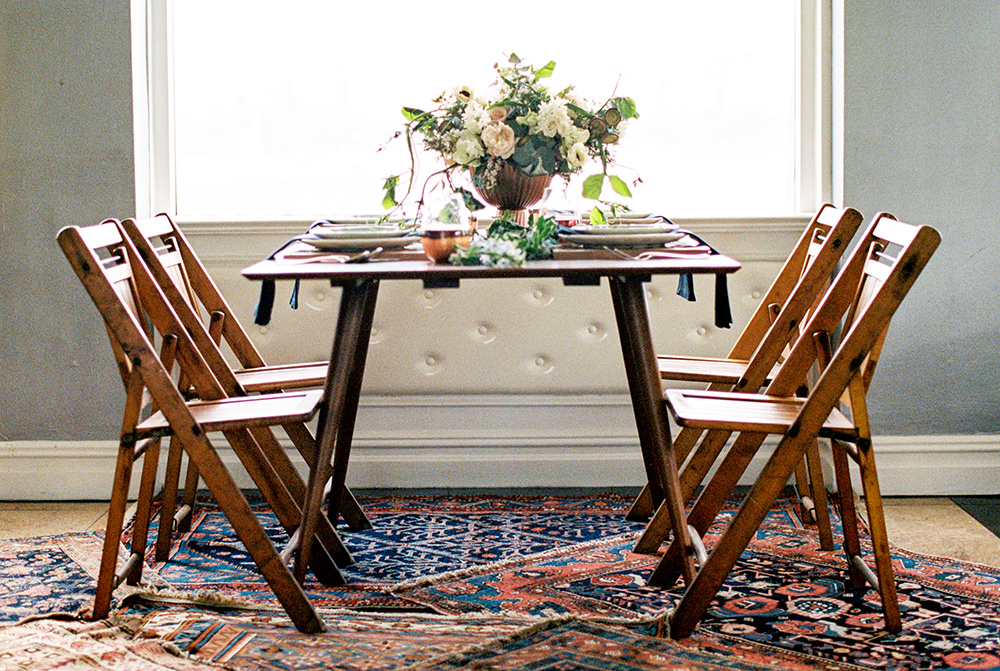 wedding reception tables - photo by Alexis June Weddings http://ruffledblog.com/for-the-love-of-copper-wedding-inspiration