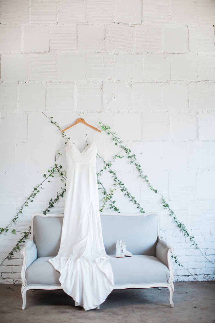 modern wedding dresses - photo by Natalie Bray Photography https://ruffledblog.com/french-provencal-wedding-inspiration-with-geometric-accents