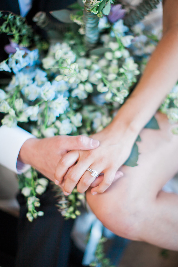 wedding rings - photo by Natalie Bray Photography https://ruffledblog.com/french-provencal-wedding-inspiration-with-geometric-accents