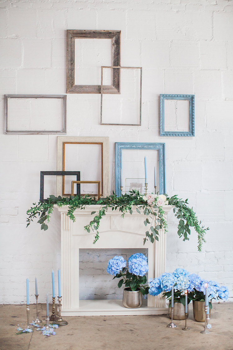 picture frame backdrops - photo by Natalie Bray Photography https://ruffledblog.com/french-provencal-wedding-inspiration-with-geometric-accents
