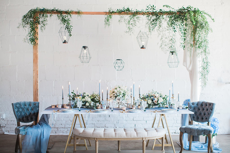 romantic wedding receptions - photo by Natalie Bray Photography https://ruffledblog.com/french-provencal-wedding-inspiration-with-geometric-accents
