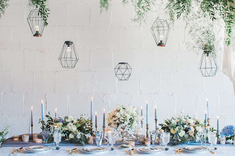 geometric wedding accents - photo by Natalie Bray Photography https://ruffledblog.com/french-provencal-wedding-inspiration-with-geometric-accents