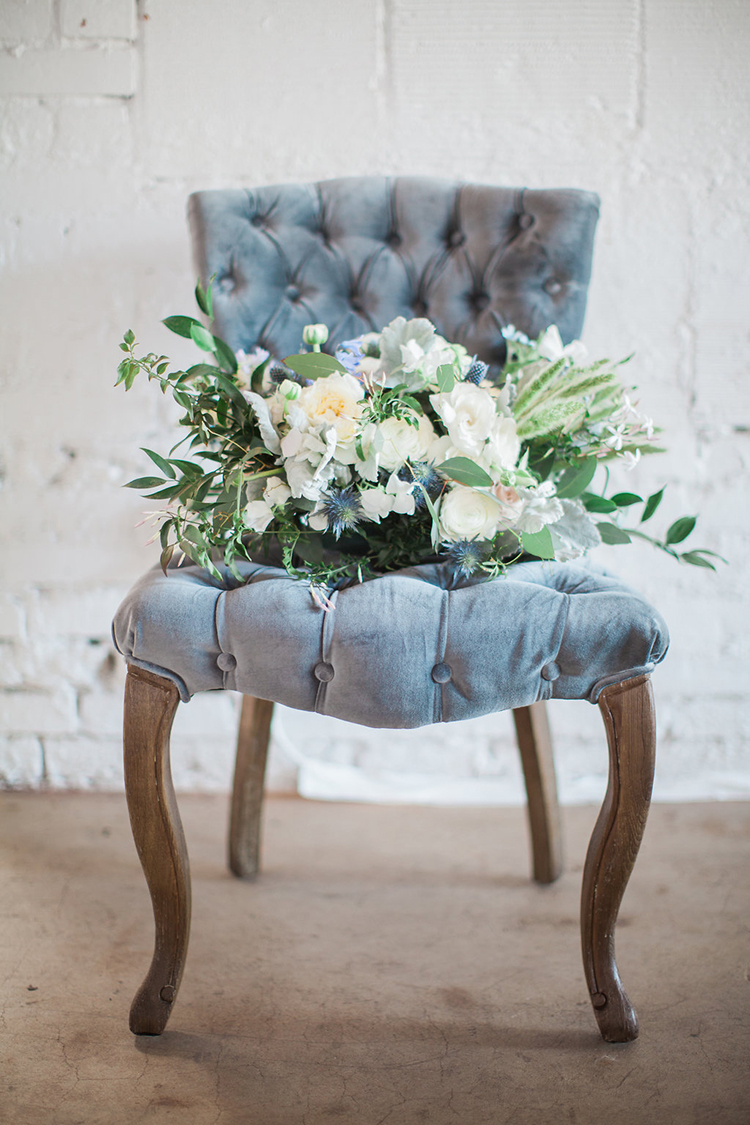 green and ivory bouquets - photo by Natalie Bray Photography https://ruffledblog.com/french-provencal-wedding-inspiration-with-geometric-accents