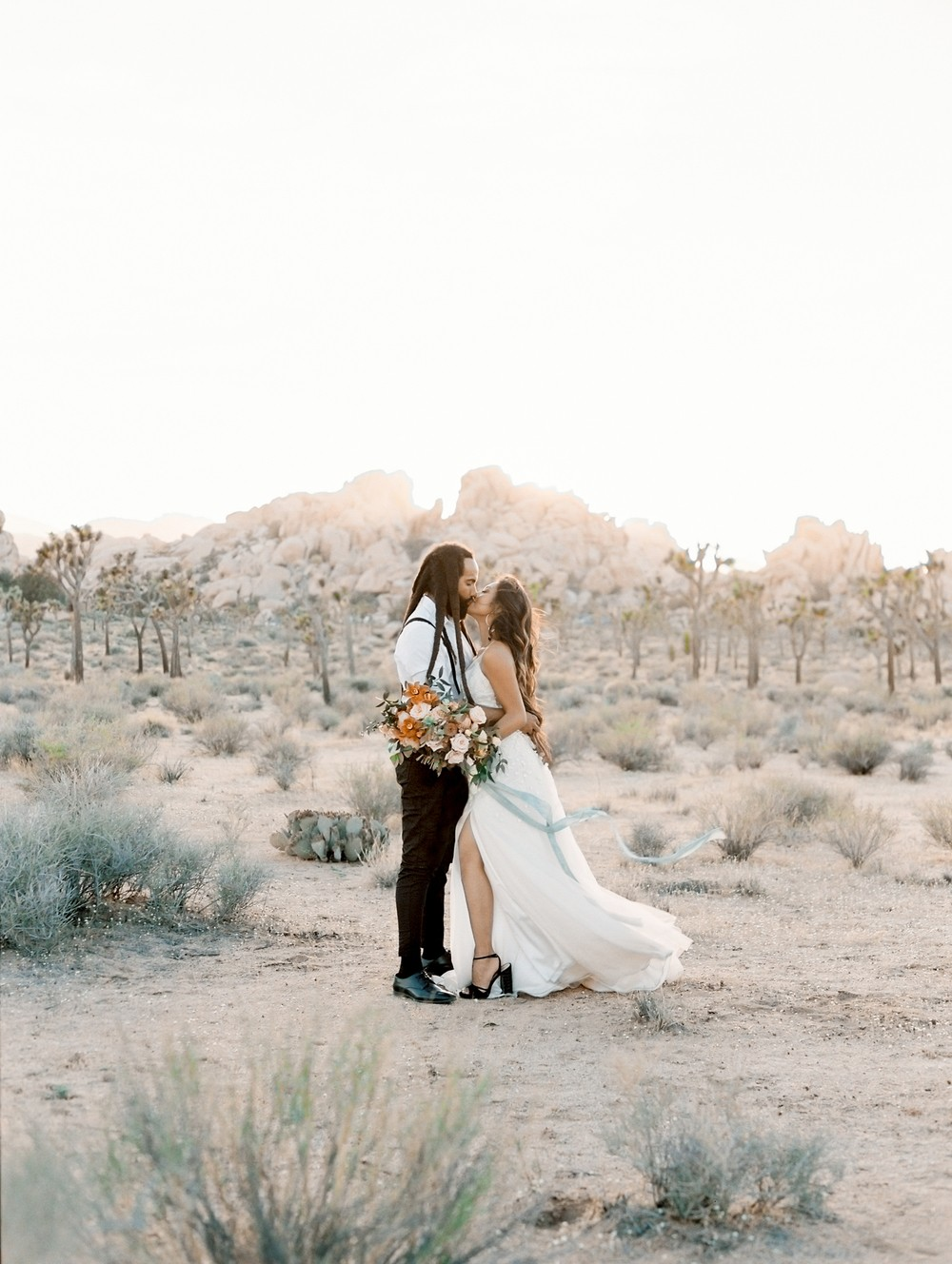 Fruity Joshua Tree Wedding Inspiration With A Former Contestant From