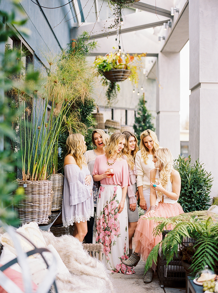 Fun and Flirty Bridal Shower Inspiration - photo by Danielle Poff Photography https://ruffledblog.com/fun-and-flirty-bridal-shower-inspiration