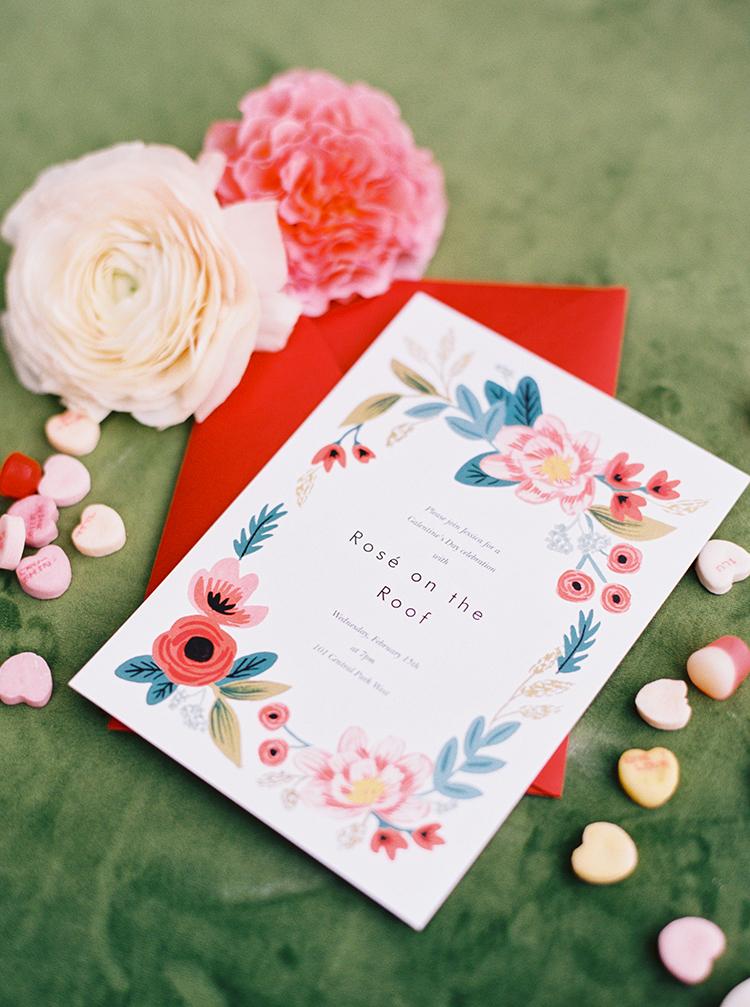 invitations - photo by Danielle Poff Photography http://ruffledblog.com/fun-and-flirty-bridal-shower-inspiration