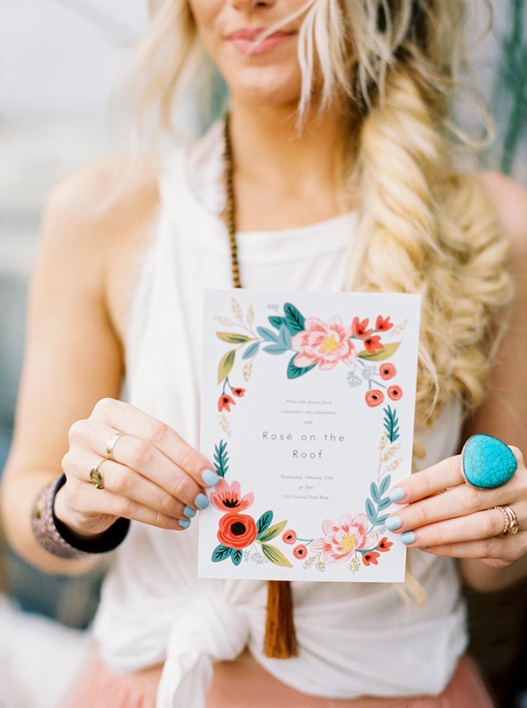 wedding paper goods - photo by Danielle Poff Photography http://ruffledblog.com/fun-and-flirty-bridal-shower-inspiration