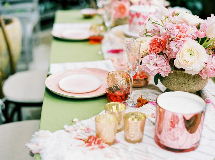 pink wedding ideas - photo by Danielle Poff Photography http://ruffledblog.com/fun-and-flirty-bridal-shower-inspiration