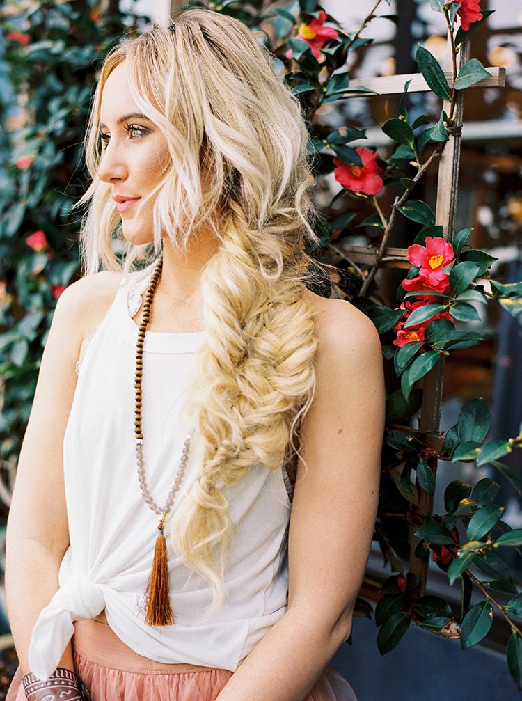 boho braids - photo by Danielle Poff Photography http://ruffledblog.com/fun-and-flirty-bridal-shower-inspiration