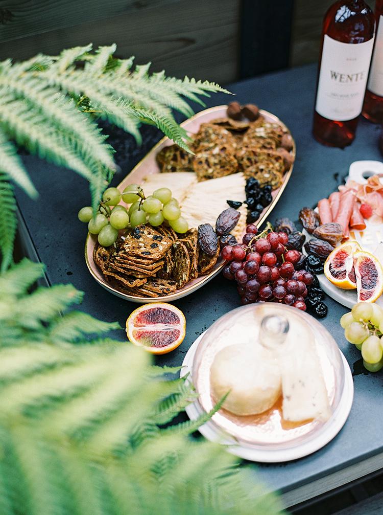 fruit plates - photo by Danielle Poff Photography http://ruffledblog.com/fun-and-flirty-bridal-shower-inspiration